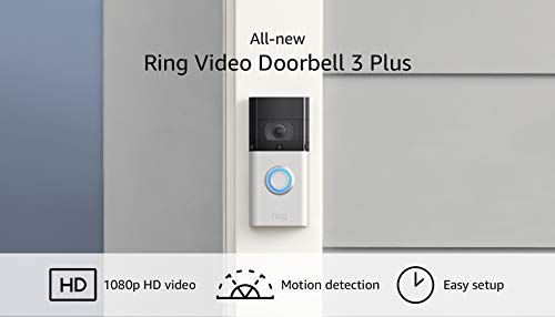 Ring Video Doorbell 3 Plus – enhanced wifi, improved motion detection, 4-second video previews,...