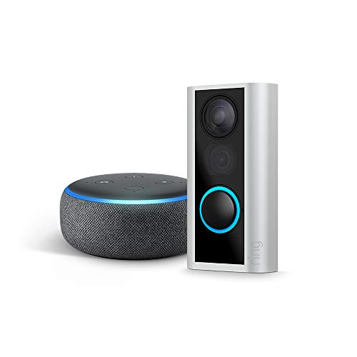 Ring Peephole Cam with Echo Dot (3rd Gen) - Charcoal