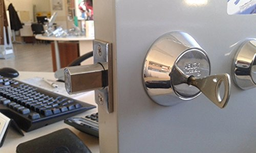 Abloy Protec deadbolt ME153 PROTEC/Single Cylinder w/Thumbturn/with 3 Keys and ID Card