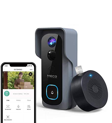 【32GB Preinstalled】WiFi Video Doorbell,MECO 1080P Doorbell Camera with Free Chime, Wireless...
