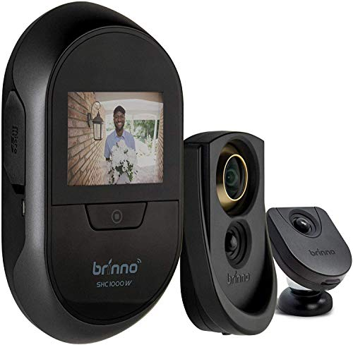 Brinno Duo Front Door Peephole Camera SHC1000W - Smart Home Security System with Mobile and Live...