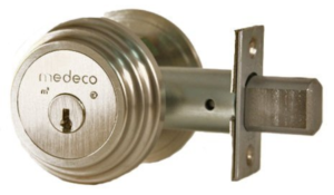 A good deadbolt will help you reinforce your front door.