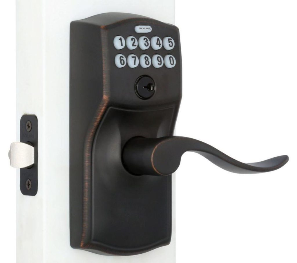 not a keyless front door lock