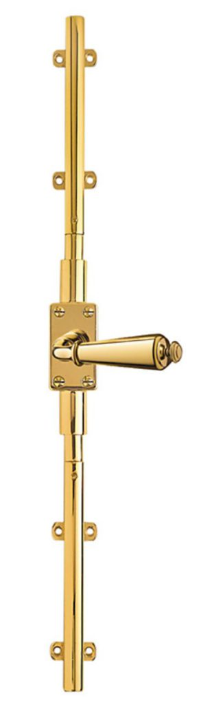 cremone or multipoint lock to secure a french door