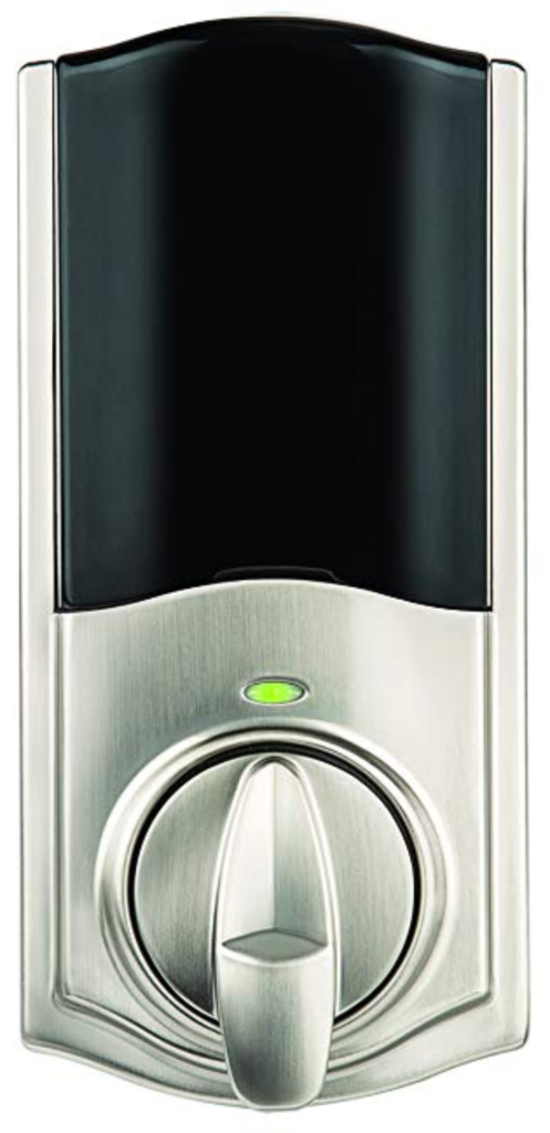 Kwikset Kevo Convert smart lock will fit your deadbolt.
